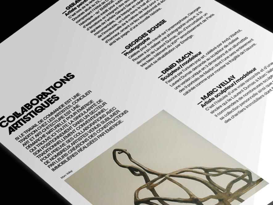 Creation Dossier De Presse Emerige Agence De Communication Paris